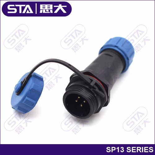IP68 5 Pin weipu connector sp13 electric vehicle On-Board Charger cable connector