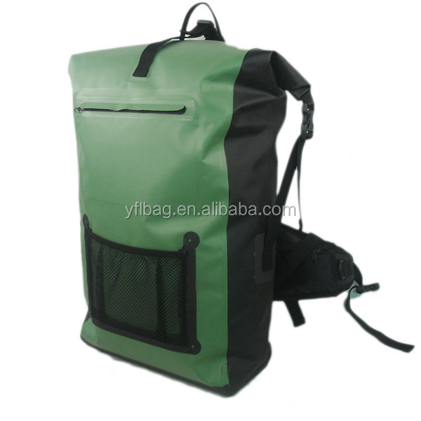 wholesale waterproof durable travel backpacks rolling top backpack