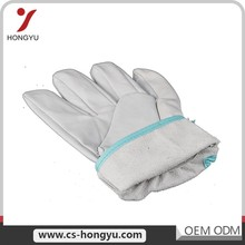 Ce approved simple fashion full lining cream winter leather work gloves
