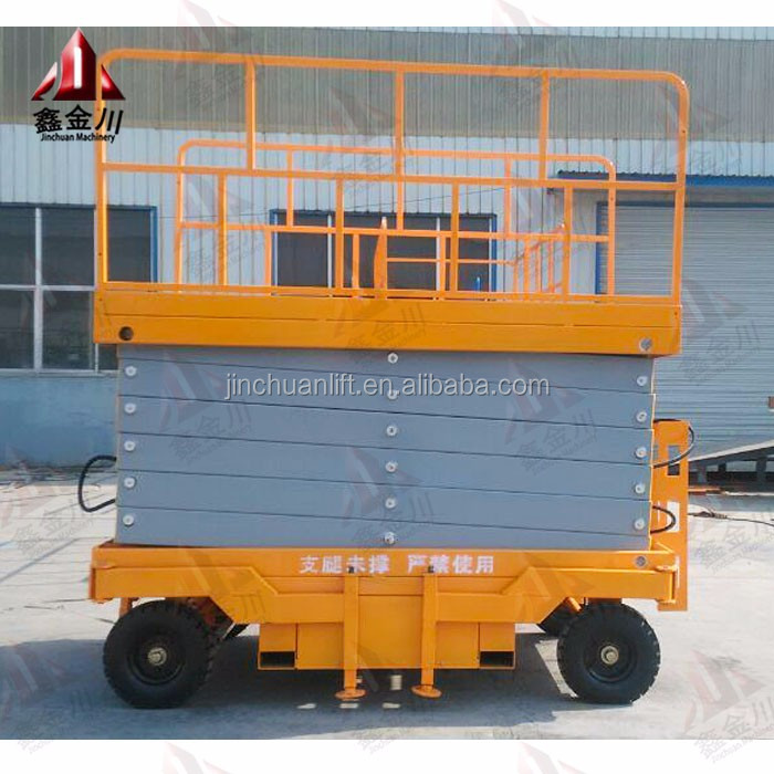 Home lift Movable four wheels aerial scissoe lift for sale