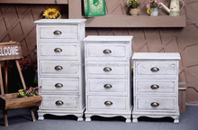 Shabby chic white grey cabinet /Vintage Living Room Modern Furniture Wholesale