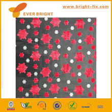 2014 new design A4 flower design flocked gift wrap paper