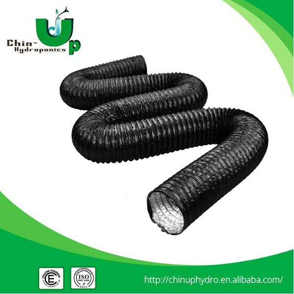 Double layer flexible air duct hose/PVC air conditioning duct/Hydroponics duxtwith two clam