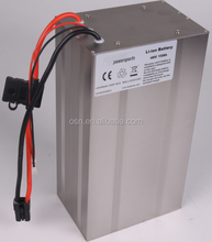 48v 15ah li-ion battery pack with charger and case for electric bicycle/e bike battery