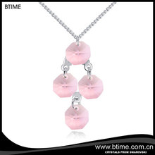 Crystals pendant fashion jewelry for elegant women necklace Crystals From Swarovski