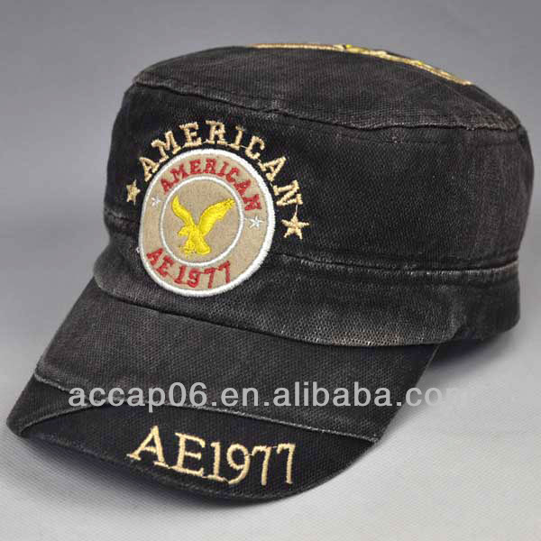 custom foreign embroidered military caps and hats