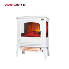 2 Infrared Tubes Freestanding Indoor Electric Fireplace no Heat
