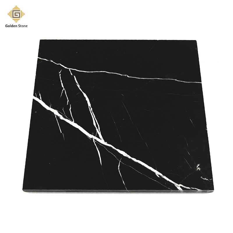 Factory sale honed nero marquina marble tile 30x60