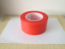Double sided PET/Polyester Acrylic Adhesive tape with light red OPP release liner