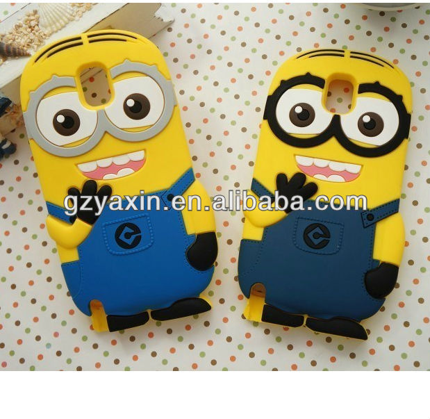 3d animal case for samsung galaxy s2 i9100,For samsung galaxy sII S2 I9100 despicable me 2 minions 3d silicone soft case