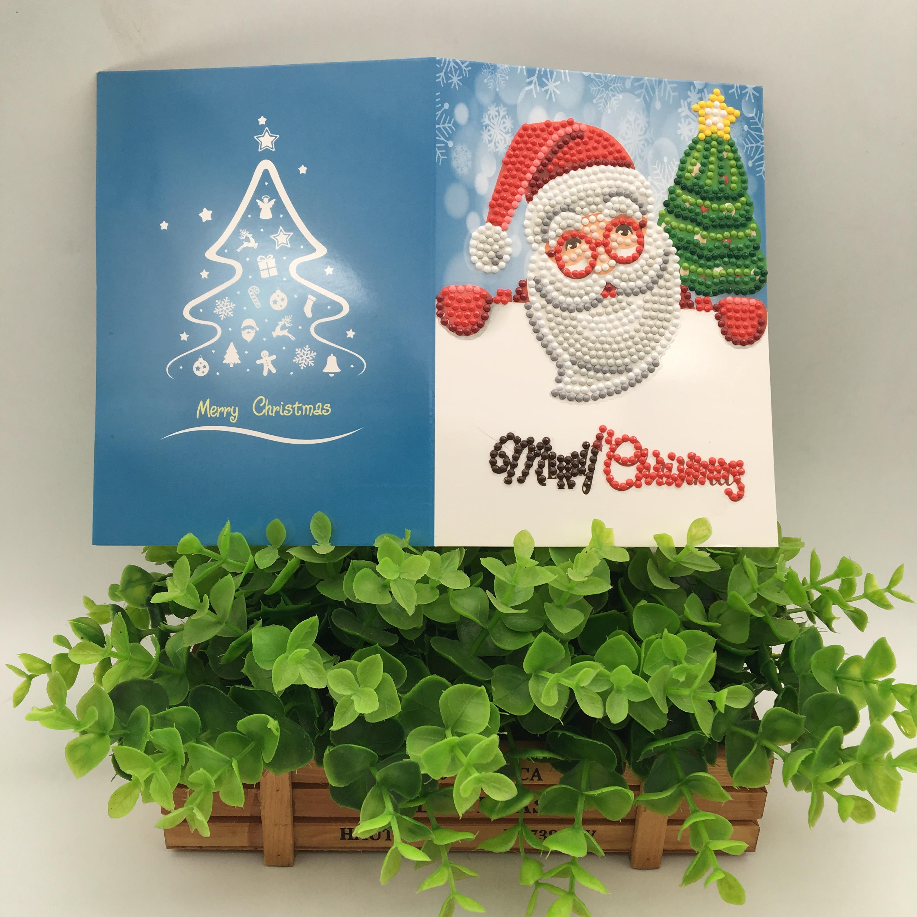 Christmas Greeting Cards Diy 5d Diamond Painting For Christmas Gift