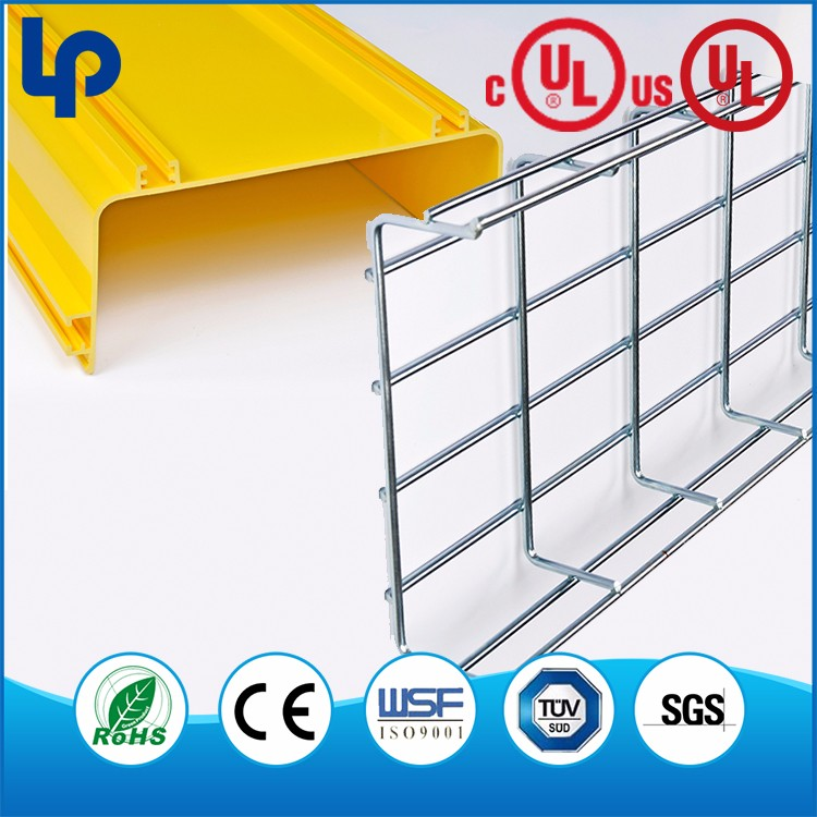 steel perforated galvanized wire mesh cable tray , hot-dip galvanized wire mesh cable tray with cover