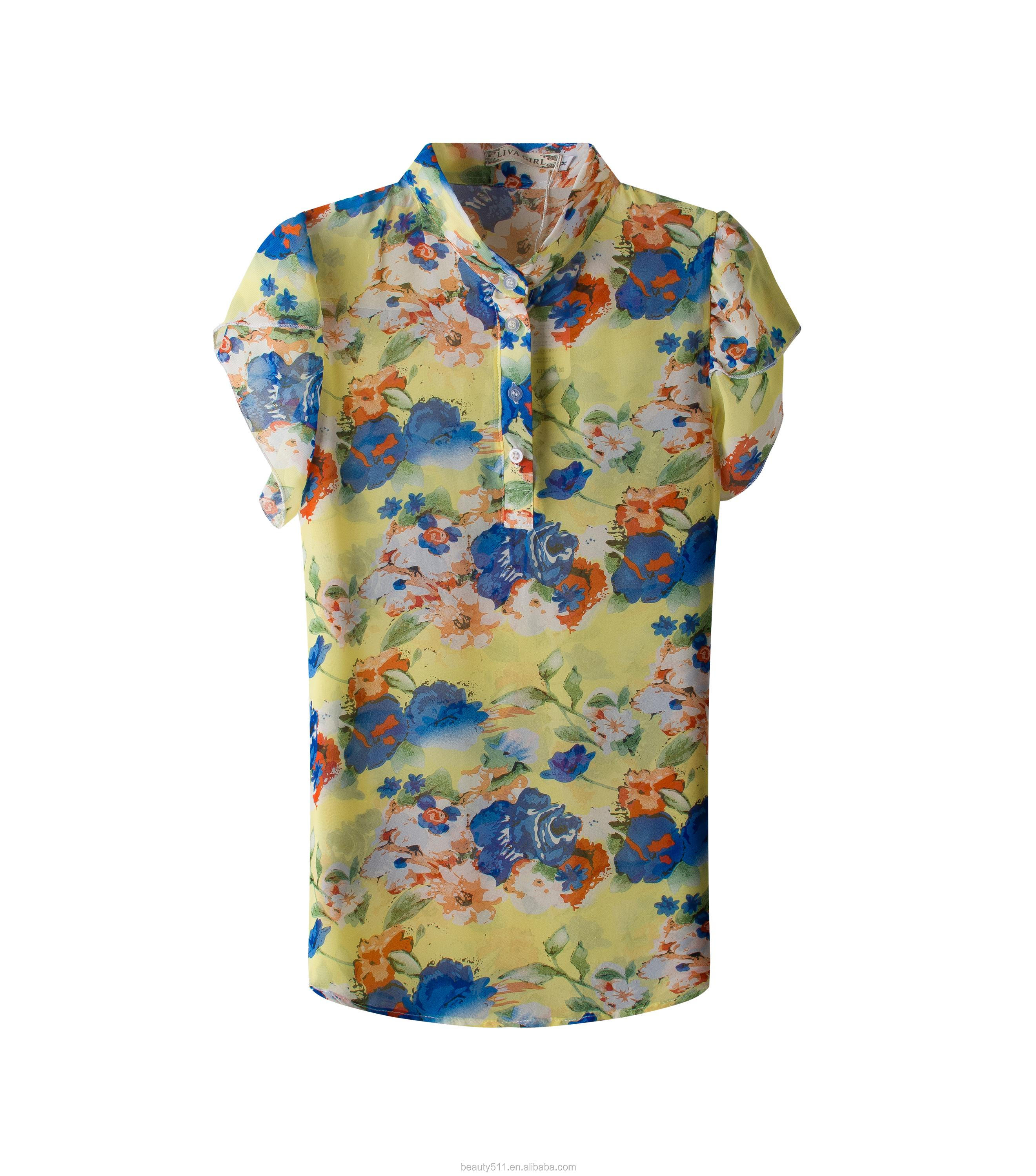 A blouse with a blouse and a short-sleeved chiffon shirt SD94