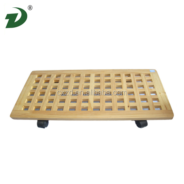 2014 Cheap convenient wholesale wooden food tray with wheel
