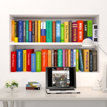 3D Office bookcase wall decoration and environmental protection removable wall stickers school surroundings wall stickers