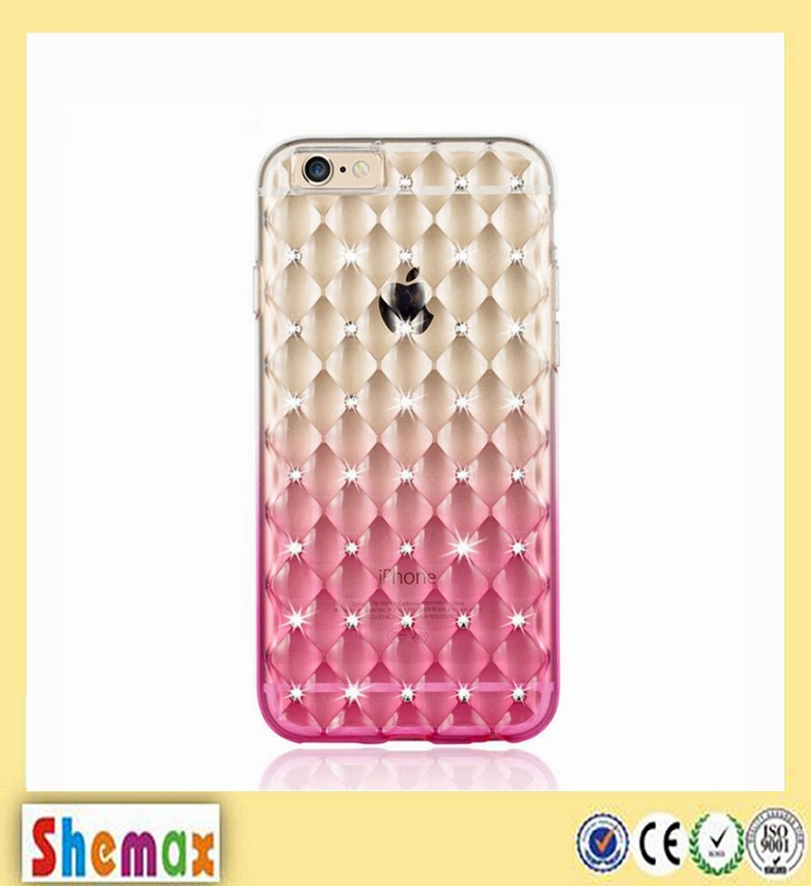 Shining 3D Bump Water Cube Transparent TPU Bumper Cell Phone Case for iPhone 6/6s