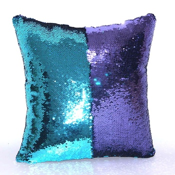 Manufacturer selling custom fabric cushion cover beautiful travel mermaid sequin pillow