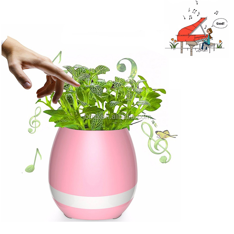 Cute Planters Flowerpot Wireless Speaker Mini Home Smart Plant With Music Light