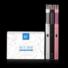ECT 100% original new starter kit ECT ONE e cigarette kit mini size 0.8ohm atomizer huge vapor e vaporizer