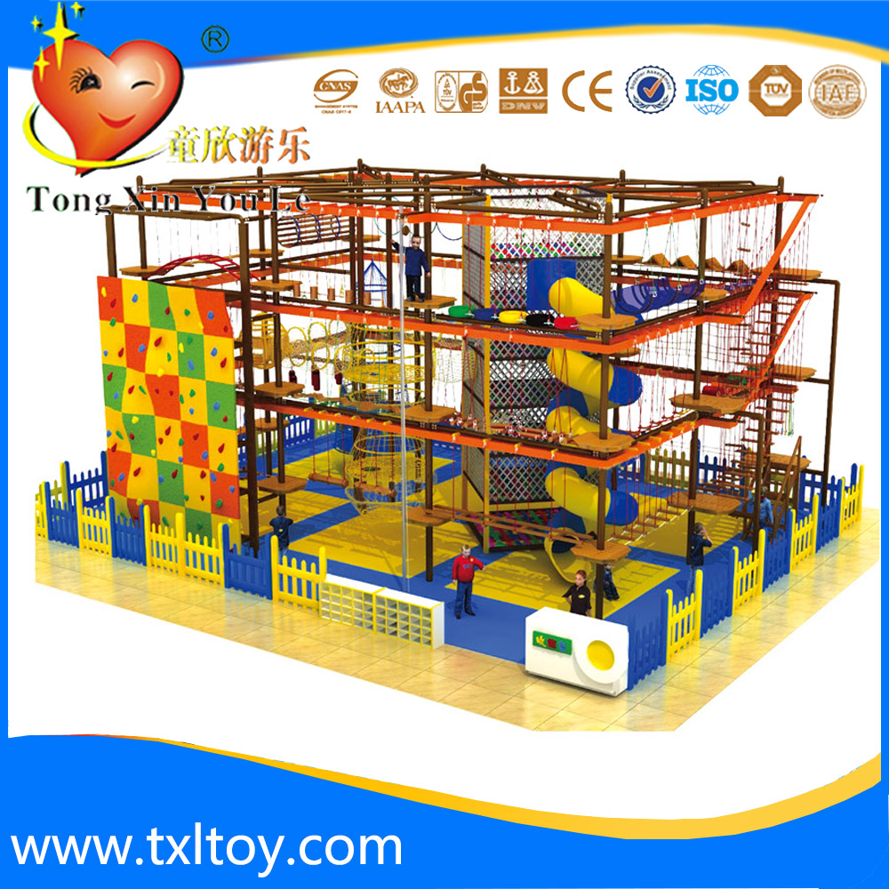 T-8067 outward bound training rope net crawl training playground equipment for climbing for recreational park