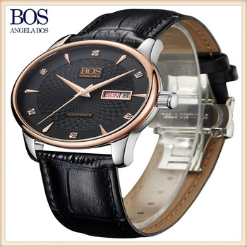 Facotory direct watch big dial automatic watch leather strap watches
