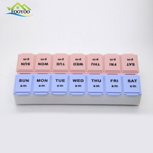 Pill case children 7 days plastic weekly pill vitamin box with lock