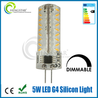 factory sale 110V 220V AC silicon led g4 capsule light bulb ce rohs approved 2w 3w 5w led g4 12 v dc silicone