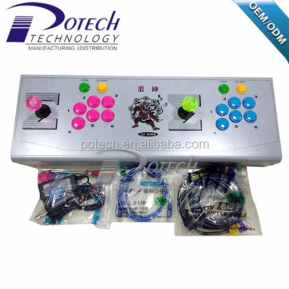 Pandora Box 4 Arcade Sticks Controller with Built in Games 645 VGA AV to TV USB to PC Arcade Control Panel