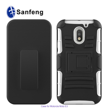 Shockproof Case For Moto E 2016 Holster Belt Clip Cover Robot Case