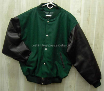 varsity jacket with leather sleeves for men,new fashion baseball jacket,
