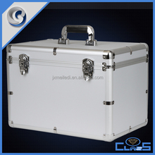 Professional sturdy durable large safety aluminum tool case for camera electronic carrying