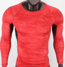 polyester spandex sweat absorb longsleeve crew neck fitness sports t shirt wholesale