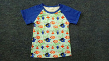 2017new fashion clown fish patterned baby boys clothes tunic length T shirt