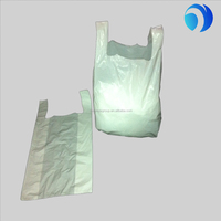 cheap wholesales small plastic clear white t-shirt bags