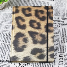 Classic leopard grain customized fabric cover golden edge notebook