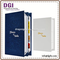 restaurant menu board Hong Kong supplies provided high quality leather menu cover /A4 size restaurant menu board