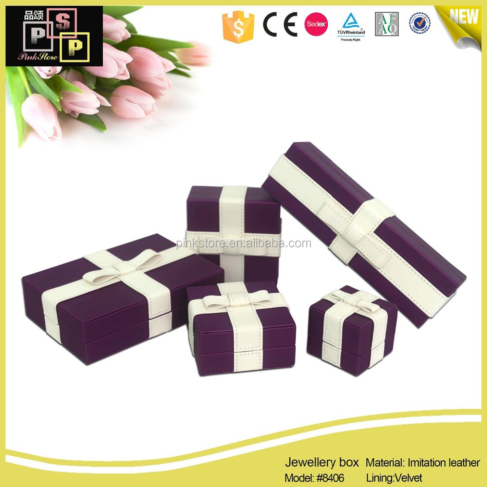 Factory offer velvet made custom jewelry box for ring