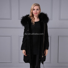 Germany women jacket wholesale clothing woman winter parka with raccoon fur trim hood
