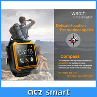 Touch screen smart watch phone hot wholesale cheap 1.54 inch CE buletooth4.0 three proofings anti lost smart watch