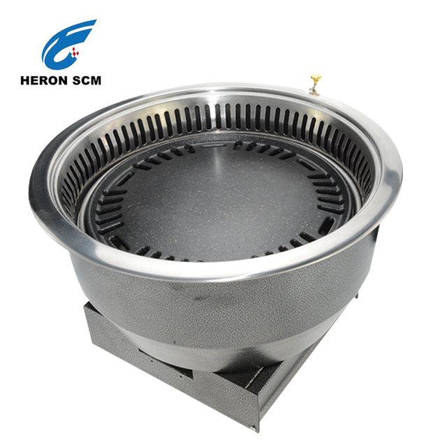 Korea restaurant Non-stick pan cemmercial charcoal grill smoker bbq grill