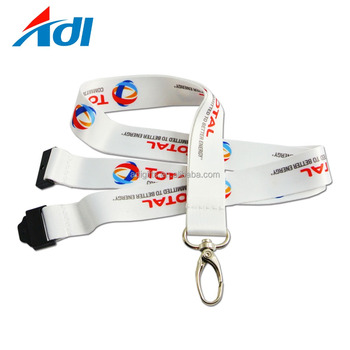 Wholesale custom logo polyester small quantity lanyards with metal clip