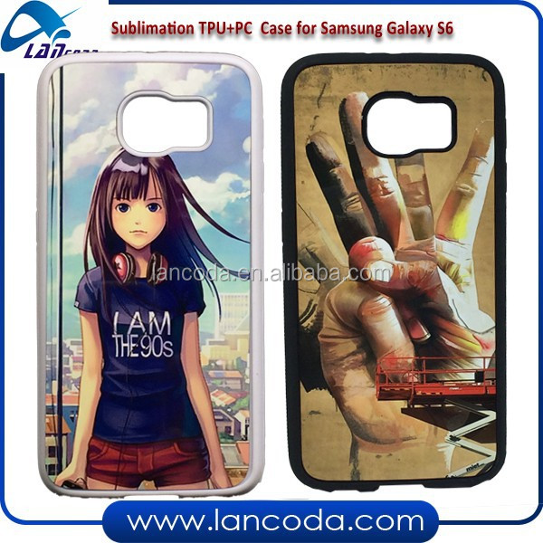 2d sublimation case for Samsung Galaxy S6 G9200,sublimation cell phone case,sublimation tpu cover