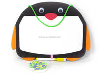 New style education toy Plastic stationery cartoon penguin shape writing board for kids