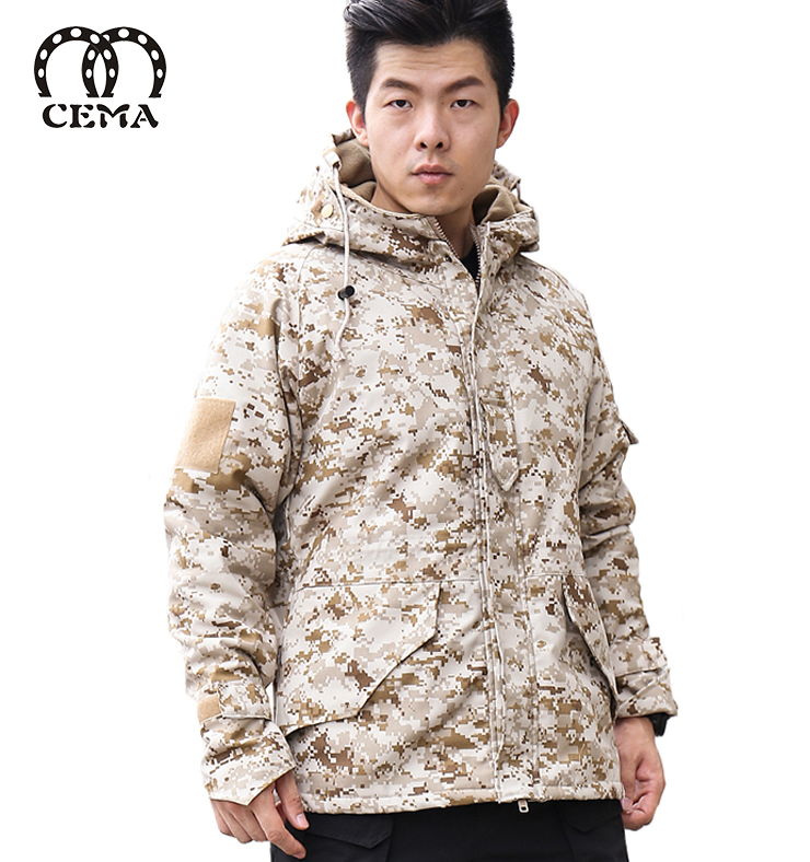 New arrival man camo jacket low price winter jacket