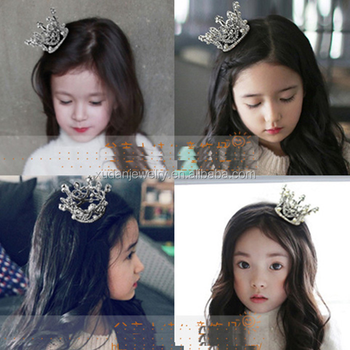 Kids Flower Girl Baby Full Crystal Circle Round Mini Tiara Pageant Crown Wholesale