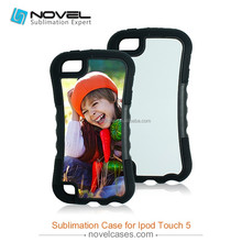 Soft rubber case sublimation tpu case for iPod touch5