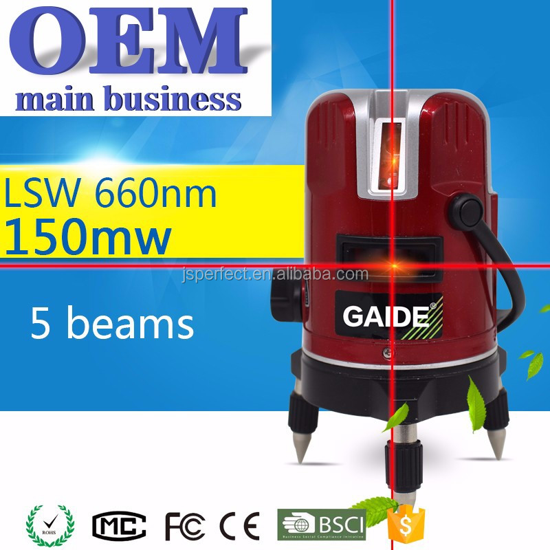 Multi 5 red lines laser level land leveling for manufacturer in china