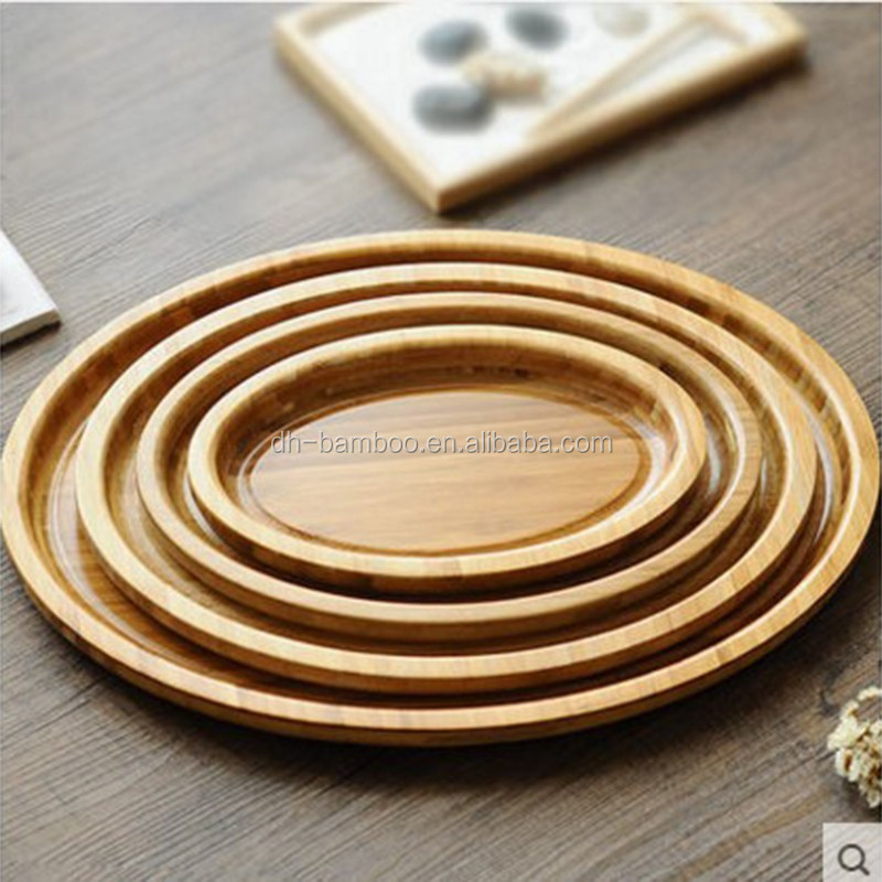 High Quality BSCI 8 inch beech wood Tray, Wooden Platter for Sale
