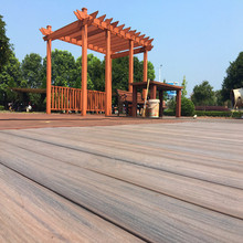 Outdoor capped wood plastic composite decking