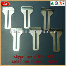 flat metal steel bracket for furniture with slotted hole in dongguan